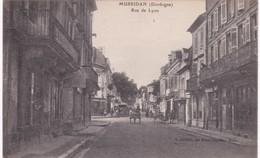 24 Dordogne - MUSSIDAN - Rue De Lyon - Banque - Attelage - Mussidan