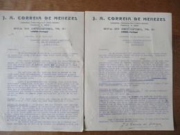 LISBOA J. A. CORREIA DE MENEZES RUA DO CRUCIFIXO 75,3° COURRIERS DES 30 JUIN ET 23 JUILLET 1927 - Portugal