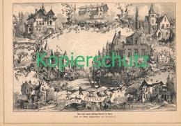 251 Hlavazek Wiener Cottage Viertel Wien Druck 1878 !! - Stampe