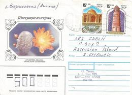 Ukraine 1991 Kiev Cactus Aylostera Heliosa Mosque Islam Cover - Cactussen