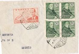 30985. Fragmento Frontal Aereo BARCELONA 1947. Lacierva Y Padre Feijoo - 1931-Hoy: 2ª República - ... Juan Carlos I