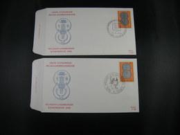 "BELG.1972 1616 FDC's Stekene & Elouges ""Belgisch-Luxemburgse Unie  /Union Belgo-Luxembourgeoise "" - FDC"