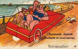 DPT 85 NOIMOUTIERS Charmante Balade Soulevez Et Vous Verrez (carte à Système) - Noirmoutier