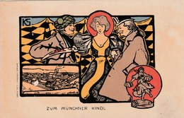 Carte Postale Ancienne Illustrée Allemande - Vers 1900 - Zun Münchner Kindl - Non Classés