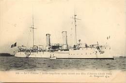 Themes Div-ref Z610- Bateaux - Bateau De Guerre - Marine Militaire -le Cassini *-aviso Torpilleur -fetes D Anvers -1903 - Guerre