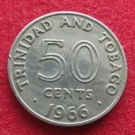 Trinidad E Tobago 50 Cents 1966 KM# 5 Trinite & Tobbacco - Trinité & Tobago