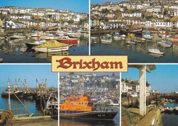Postcard Brixham Devon Multiview [ Salmon ] My Ref  B23291 - England