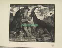 187-3 Schiestl: Bergkönig Alpines ExLibris Druck 1907!!! - Decretos & Leyes