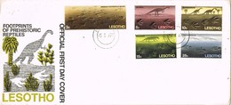 30989. Carta F.D.C. MASERU (Lesotho) 1970. Prehistoric Reptils Footprints - Lesotho (1966-...)
