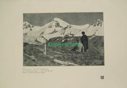 221 Wieland: Hirte Bergsteiger Alpenwelt Berge Druck 1909 !! - Drucke
