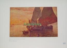 219 Wielandt: Venedig Lagune Segelboote Farbdruck 1906!! - Drucke