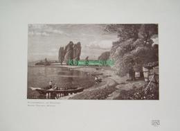 215-4 Wielandt: Spätsommertag Bodensee Fischer Druck 1907!! - Drucke