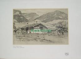 212-2 Wenig: Oberstdorf Bauernhaus Berge Druck 1907!!! - Drucke