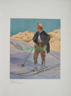 210-3 Wieland. Schiläufer Jahre Alt Farbdruck 1907!! - Decretos & Leyes