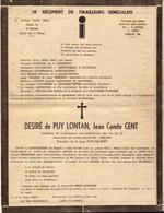 Militaire, Tirailleurs Senegalais, 15e Regiment, Pere Cent     (bon Etat) - Documents