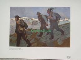209-2 Wieland: Bergführer Berge Gebirge Farbdruck 1907 !! - Decretos & Leyes