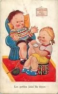 -ref-B529 - Illustrateurs - Illustrateur - Les Petites Joies Du Foyer - Le Tricot - Enfants  - Carte Bon Etat - - Illustrateurs & Photographes