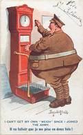 -ref-B528 - Illustrateurs - Illustrateur Mc Gill Donald - La Pesée - Balance - Militaire - Militaria - Humour - - Mc Gill, Donald