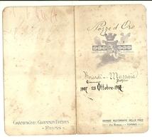 "2094 "" MENU PER NOZZE D'ORO CONIUGI BERARDI-MASSAIA  - 23 OTTOBRE 1907 ""  ORIGINALE - Menu"