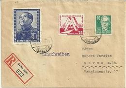 DDR Gut Frankierter R-Brief Mit Ankunftsstempel - DDR