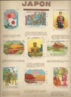 JAPAN X 18 Chromos JAPON  Map Flag History 1930s 1er Choix Pub: Pupier TB 68 X51mm 2 Feuilles 2 Scans - Autres
