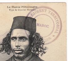Mecknès Maroc 1915 Cachet Militaire 121e Régiment D'Infanterie Territorial 2e Bataillon Béziers Hérault - Cachets Militaires A Partir De 1900 (hors Guerres)