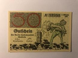 Allemagne Notgeld Neustreliz 50 Pfennig - [ 3] 1918-1933 : République De Weimar