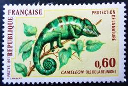 1971 France Yt 1692 . Panther Chameleon (Chamaeleo Pardalis) . Neuf Légère Trace De Charnière - Neufs