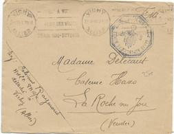 1940 - ENVELOPPE FM De La GARDE REPUBLICAINE MOBILE DETACHEE à VICHY - Marcophilie (Lettres)