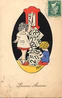 -ref-B524 - Illustrateurs - Illustrateur Maybon - Enfants - Calendrier Perpetuel - Bonne Année - Fetes - Voeux - - Illustrateurs & Photographes