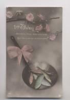 1er Avril - 1913 - POISSONS DANS UNE POELE A FRIRE - Colorisée - April Fool's Day