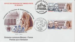 FDC 2010 Emission Commune Paléontologie Humaine Monaco 2743 France 4456 - FDC