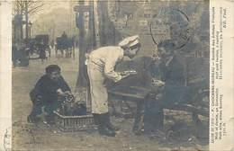 -ref-B519 - Arts - Tableaux - Tableau - Peinture - Salon De 1914 - P. Chocarne Moreau - Midi Et Demie Un Dimanche - - Peintures & Tableaux