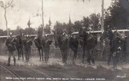 1WO  272  Roma Concorso Ippico Maggio 1909  Arrivo Delle Pattuglie Lanceri Firenze 1909 - Militari