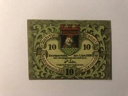 Allemagne Notgeld Zeulenroda 10 Pfennig - [ 3] 1918-1933 : République De Weimar