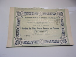CHARLES DUPIS (capital 4 Millions) Bordeaux , Gironde - Acciones & Títulos