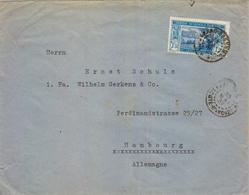 1938 , COTE D'IVOIRE - COSTA DE MARFIL , GRAND BASSAM - HAMBURGO , SOBRE CIRCULADO, YV. 82 - Elfenbeinküste (1892-1944)
