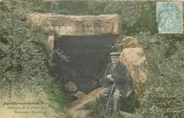 91 - JANVILLE SUR JUINE - Dolmen De La Pierre Levée - Monument Druidique (couleur 1905) - Andere Gemeenten