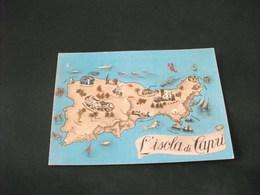 CARTA GEOGRAFICA ISOLA DI CAPRI - Carte Geografiche