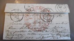 Lettre Ballon Monté Le Washinhton Avec Cachet 1 Aérostiers 1870 - Poste Aérienne