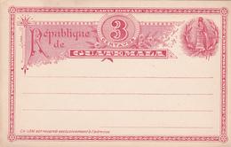 Entier Postal . Carte Postale -  République De Guatemala  - 3 Centavos Rouge.-  Etat Neuf - Guatemala