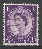 Great Britain 1956. Scott #322 (U) Queen Elizabeth II - Oblitérés