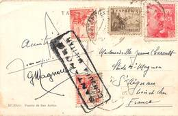 D-19-160 : CARTE POSTALE AVEC CACHET SANTANDER. CENSURA MILITAR. 1939 - Marcas De Censura Nacional