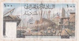 Billet 100 Dinars 01 – 01 - 1964, Alphabet : L.71 N° 085 - Argelia