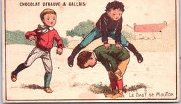 Chromo - CHOCOLAT DEBAUVE & GALLAIS - Le Saut De Mouton - Chocolate