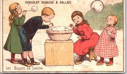 Chromo - CHOCOLAT DEBAUVE & GALLAIS - Les Bulles De Savon - Chocolate