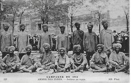 CAMPAGNE DE 1914 - ARMEE DES INDES -  INDIENS AU REPOS - Guerre 1914-18