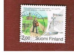FINLANDIA (FINLAND) -  SG 1230  -    1990 RURAL POSTAL SERVICE: POSTMAN      -     USED ° - Usados