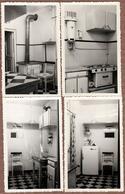 4 Photos Ori. Mobilier Moderne De Cuisine Tout équipée Vers 1950/60 - Chauffe Eau, Moulin à Café électrique, Cuisinière - Objects
