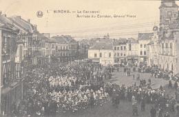 Binche - Le Carnaval - Arrivée Du Cortège, Grand'Place - Très Belle Carte Animée - état Voir Scan. - Binche